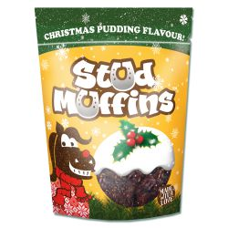 Christmas pudding muffin voor paarden